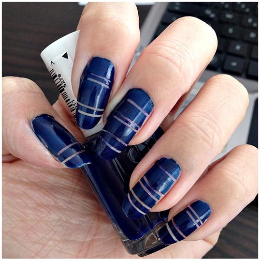 Manicure Monday | NAIL TUTORIAL #StripingTapeNailArt