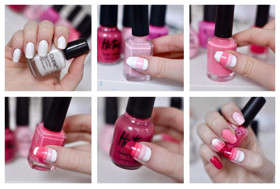 manicure monday pink ombre nail art read the trieb. Black Bedroom Furniture Sets. Home Design Ideas
