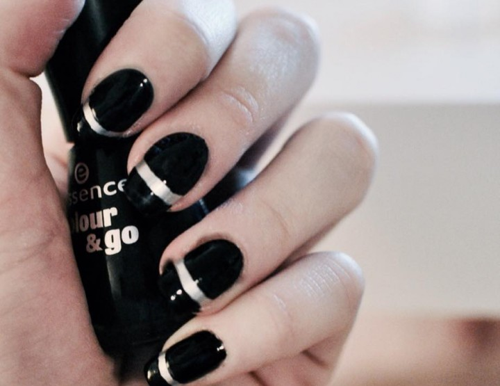 Manicure Monday | Black & Silver Nail Tutorial