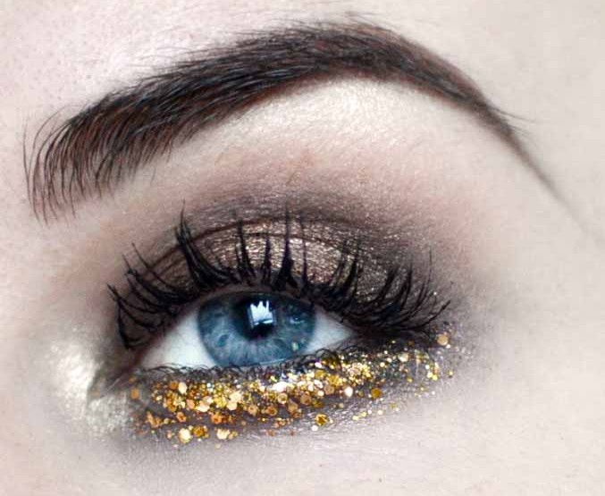 Styling- und Beauty-Tipp Berlin | Gold Glitter Look