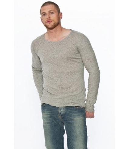 NUDIE Jeans Longsleeve 'Yngve Grey'