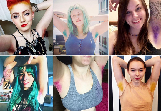 Friday ChitChat | Super weird beauty trend of 2015: The colored armpit revolution