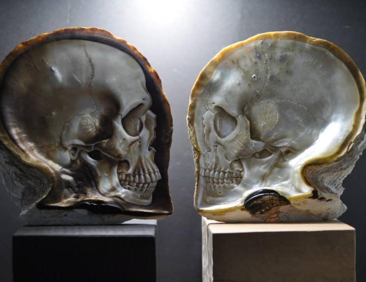 Künstler im Fokus: Gregory Raymond Halili - Schädel aus Muschelschalen