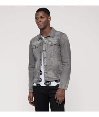 Menswear: Jeansjacke in Grau