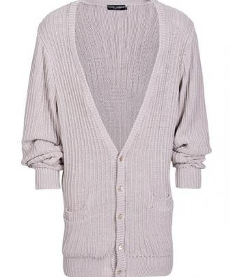 Abbigliamento maschile: Cardigan Light Dolce & Gabbana cù un aspettu casuale