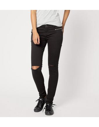 Street Style: zerrissene Jeans im Destroyed Look