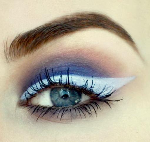 Styling- und Beauty-Tipp Berlin | Buntes Smokey Eye & weißer Eyeliner
