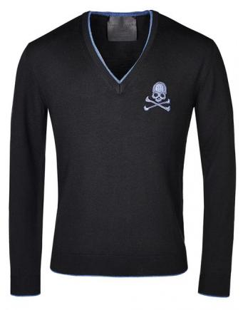 Menswear: Philipp Plein -  Dark blue Skull Shirt