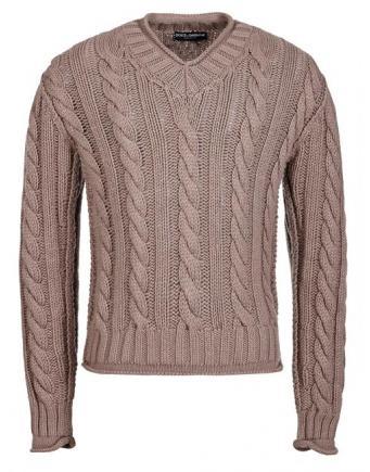 Menswear: Dolce&Gabbana | Hütten-Flair Strickpullover mit Zopfmuster
