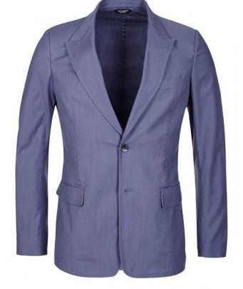 Menswear: Dolce&Gabbana Sakko in Rauchblau