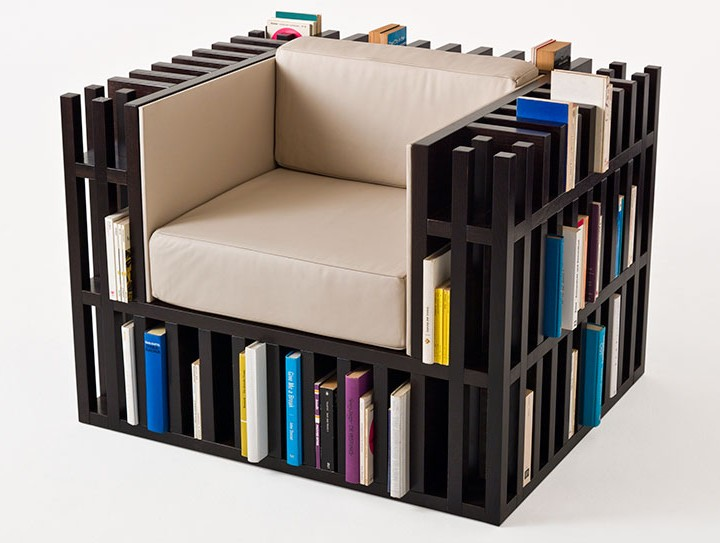 Interior Design Recommendation: Bibliochaise – An Armchair-shelf for Books