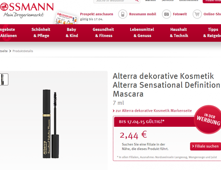 Beauty on a Budget | Satte 30% auf Mascaras bei Rossmann