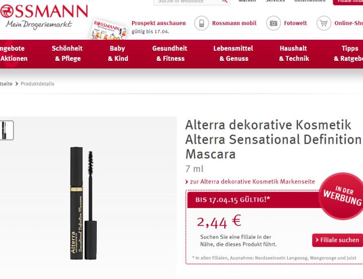 Beauty on a Budget   Satte 30% auf Mascaras bei Rossmann