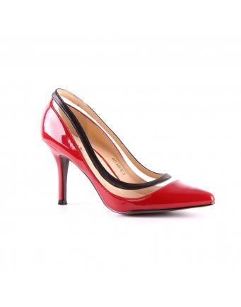 Sexy Heels in feurigem Rot und transparentem Einsatz