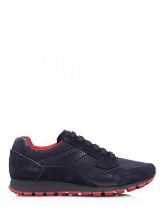 Menswear: Prada Sneaker in Rot-Schwarz