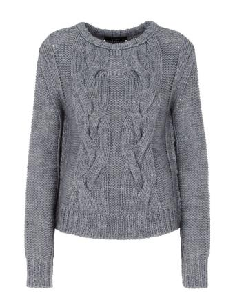 Zopfmuster Strickpullover by Oui