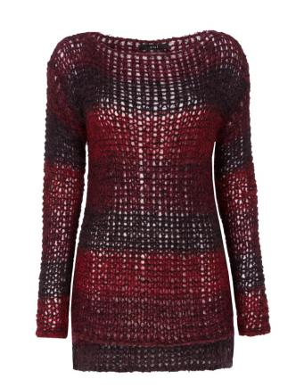 Trendfarbe 2015: Marsala | Grober Strickpullover by Oui