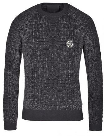 Menswear: Pullover im Crocodile Look by Philipp Plein