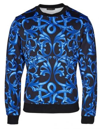 Menswear: Pullover in Black/Blue by Versace