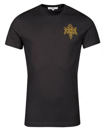 Menswear: Balmain Shirt in Schwarz-Gold
