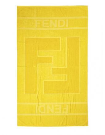Strandtuch in Gelb by Fendi