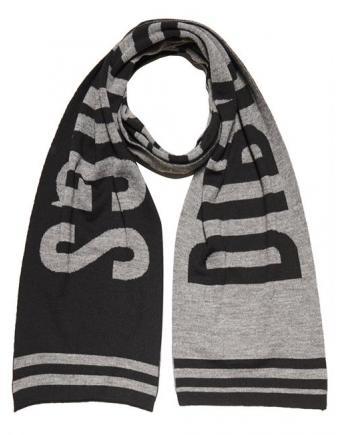 Menswear: Schal in Schwarz-Grau by Bikkembergs