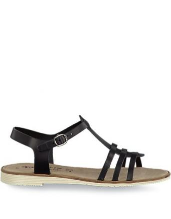 süße Sandalen in schwarz by Tamaris