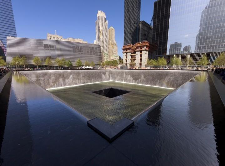 Ground Zero- Denkmal für die schreckliche Katastrophe NYs