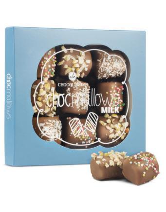 Mit Schokolade überzogene Marshmallows