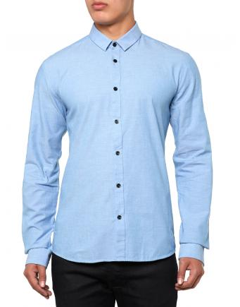 Herren Ero Hemd in Himmelblau by Hugo Boss