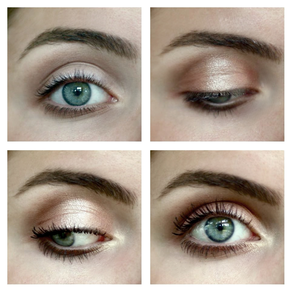 Makeup tutorial peach golden daytime look read the trieb blend a light brown eyeshadow into your crease and onto your lower lash line latte by makeup geek baditri Choice Image