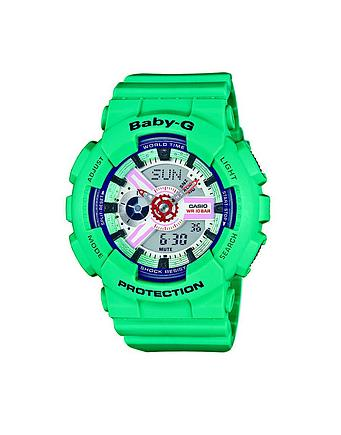 Baby-G Protection Uhr in grün by Casio