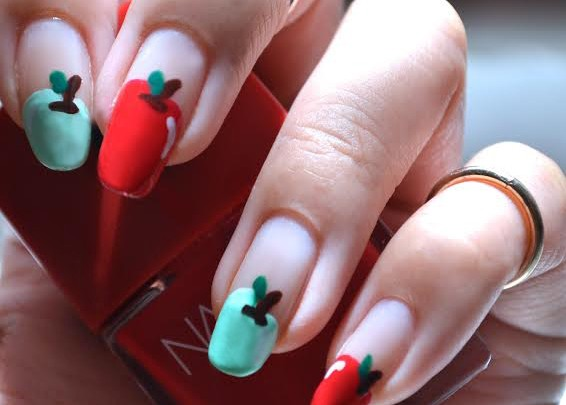 Nail Tutorial: Apples, anyone?