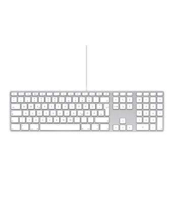 weißes Keyboard mit Ziffernblatt by Apple
