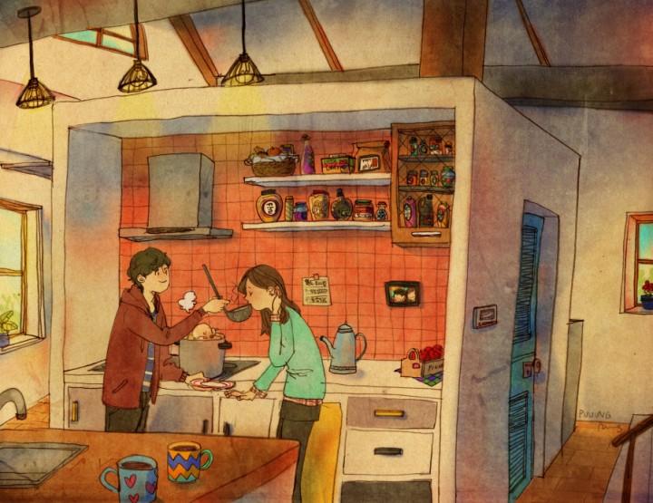 Illustrationen einer Liebe