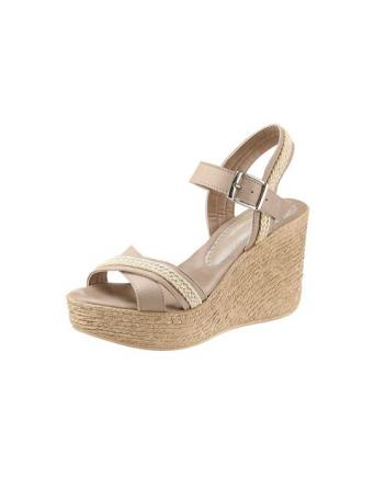 Arizona Wedge Heel Sandals with Jute Applications