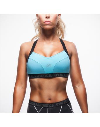 Hitex Gym Bra in neon blau by Gym Aesthetics
