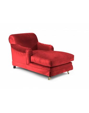 Samt Lounge Chair in Rot by Max Winzer