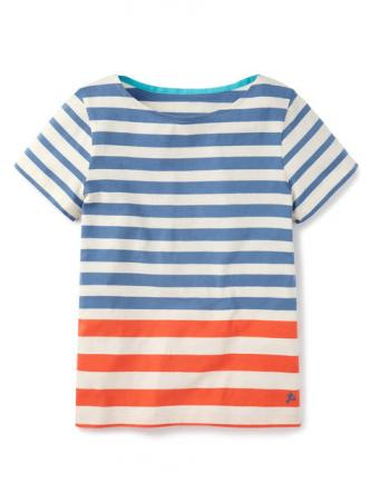 White T-shirt with stripes for teen
