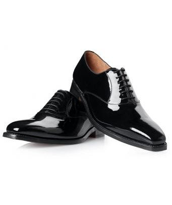 Oxford patent leather shoe NO. 571 in black