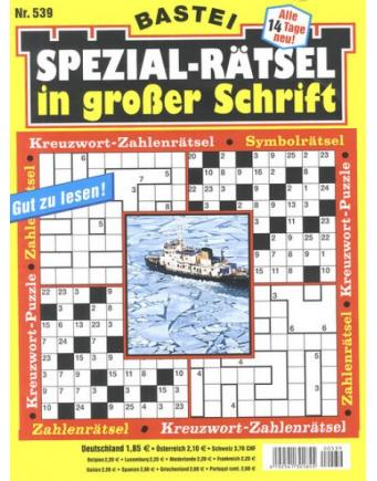 Spezial-Rätsel in großer Schrift by Bastei