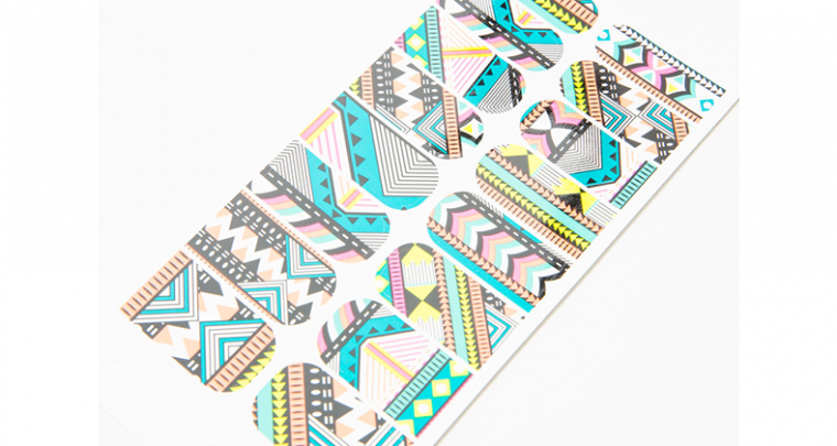 Nail wraps with an ethnic edge by Bershka