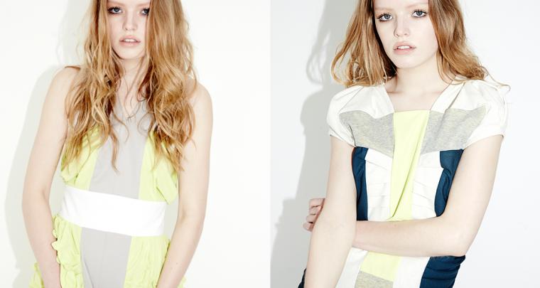 Futuristische grüne Mode bei Farrah Floyd