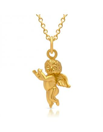 Necklace made of 925 Gold gilded Silver with Angel Pendant