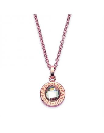 Matrix Kette aus rosa Gold by Leonardo