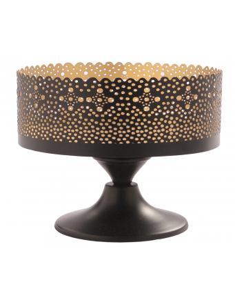 Handgefertigte Schale in Gold Schwarz