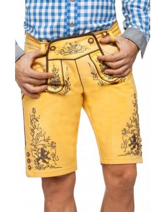 Nash Yellow Short Garb-inspired Jeans by Stockerpoint
