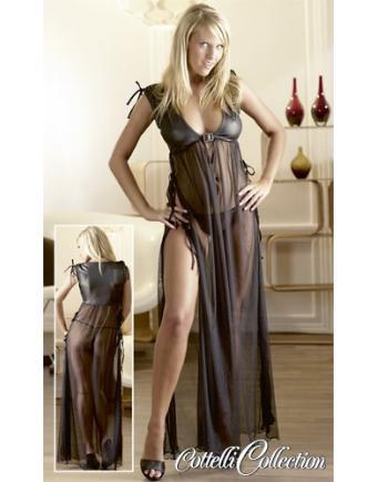 Transparentes Kleid in Schwarz