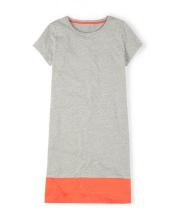 Shirtkleid in Grau Orange