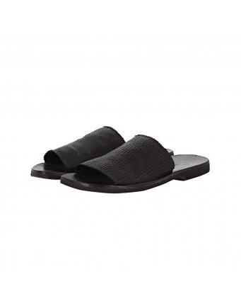 Sandalen aus Leder Black by Moma
